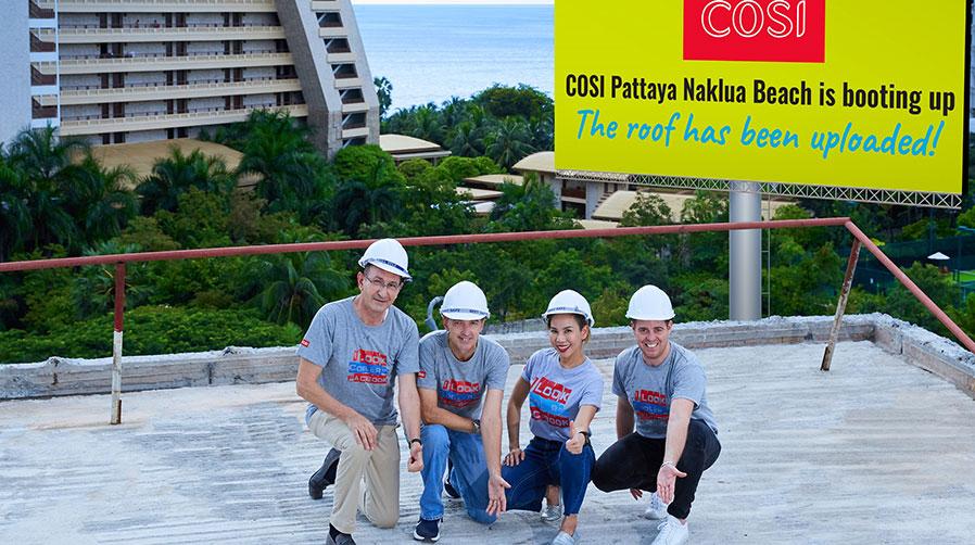 COSI Pattaya Naklua Beach raises the roof โคซี่ พัทยา นาเกลือ บีช รุดหน้าใกล้วันเปิดอีกขั้น